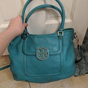 Teal Tory Burch Hobo Style Bag